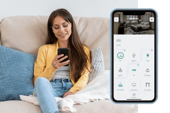 lighting automation in smart node app