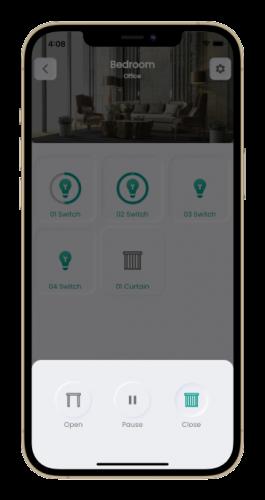 Curtain controller smart node application